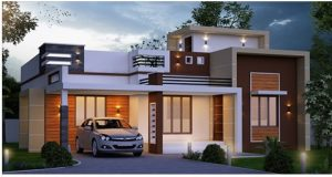 1300 Square Feet Single Floor Contemporary And Stylish Home Design