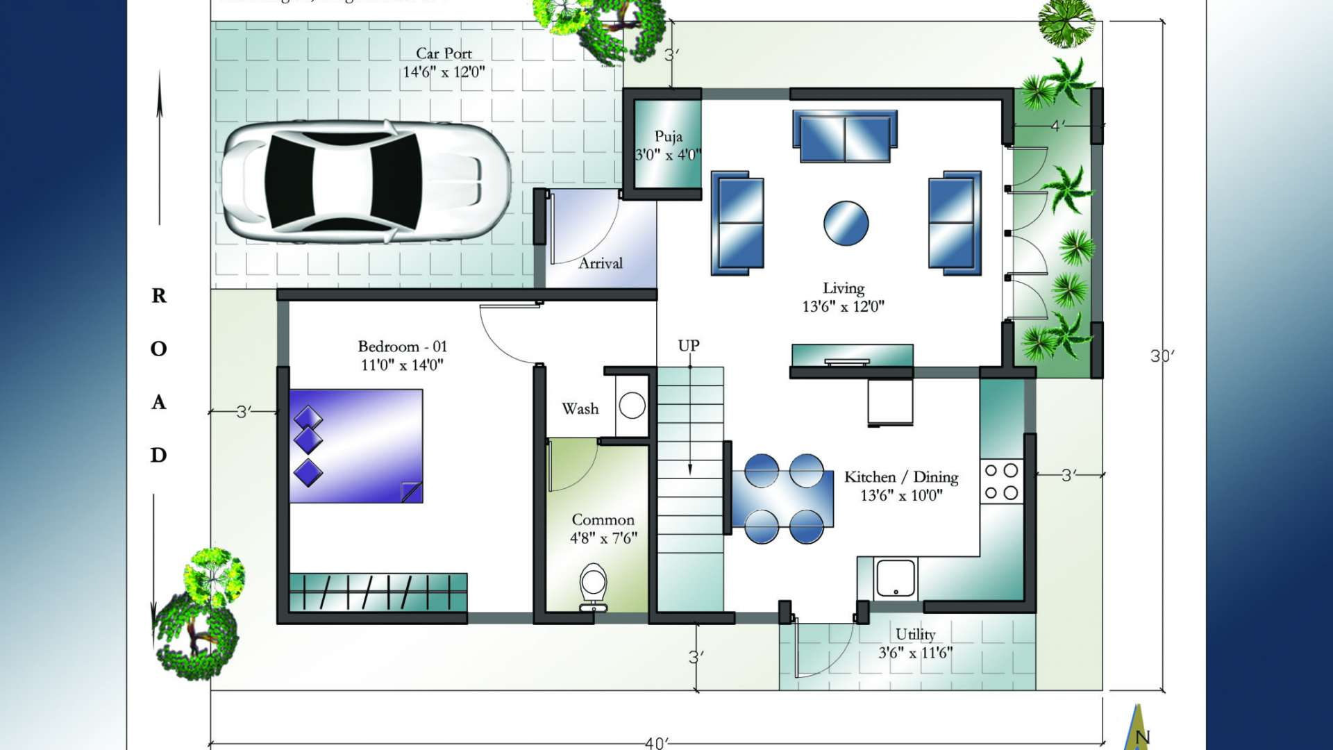 30 x 40 west facing house plans everyone will like homes in kerala india - Home design blueprints ...
