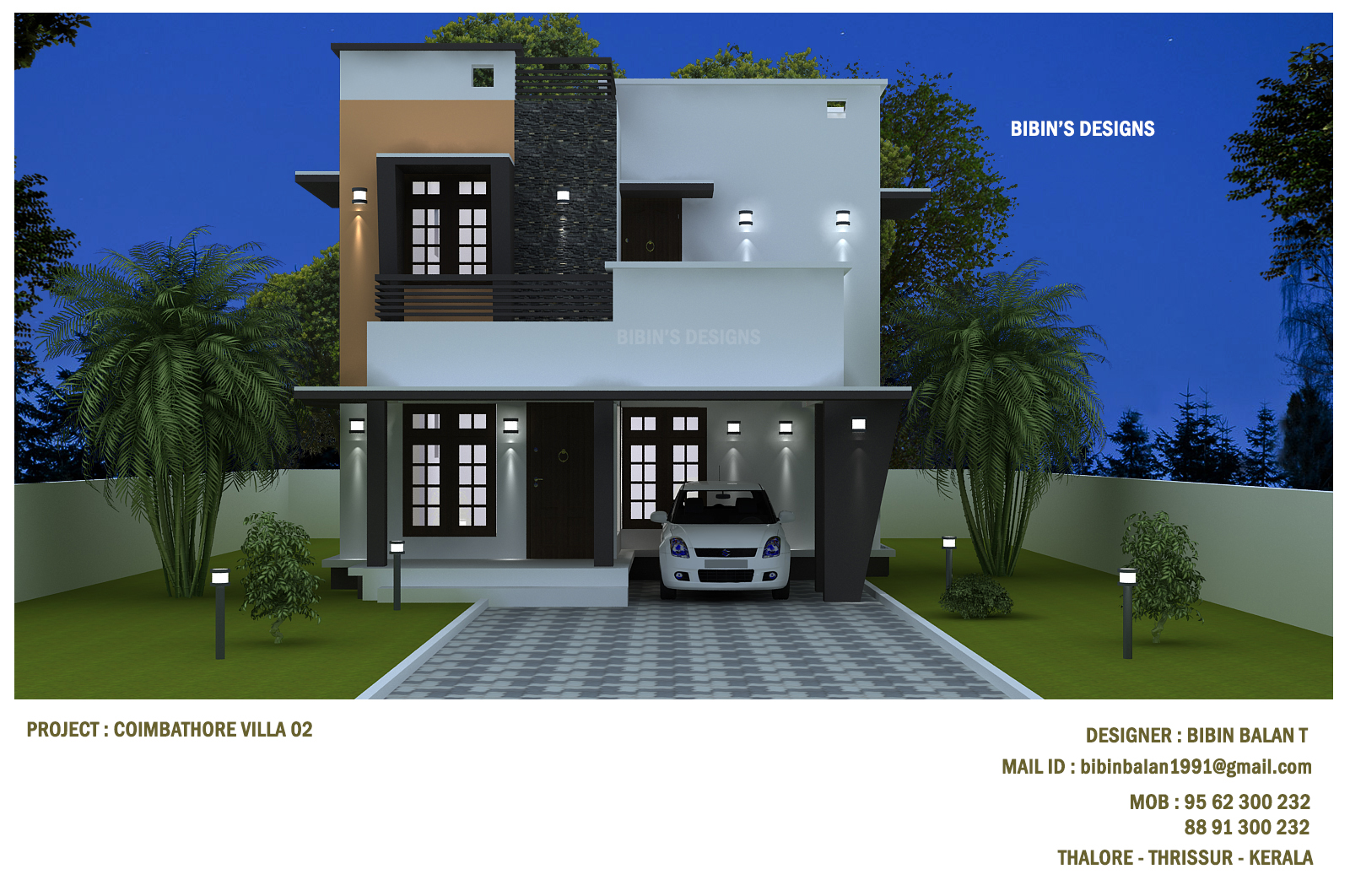 1378 square feet double floor modern home design below 20 lacs