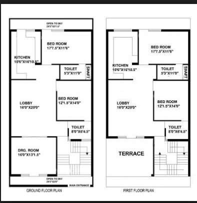 900 square feet house plan