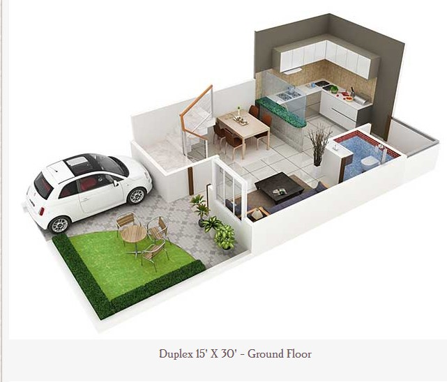 Top 50 Modern House Designs Ever Built: 450 Square Feet Double Floor Duplex Home Plan