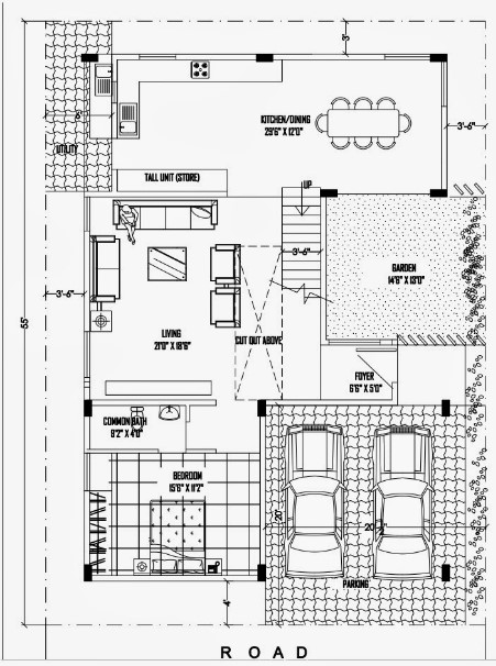 40 Feet By 50 Feet Home Plan Everyone Will Like Acha Homes
