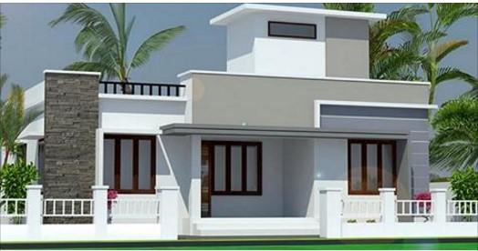 850 Square Feet Single Floor Modern Home Design