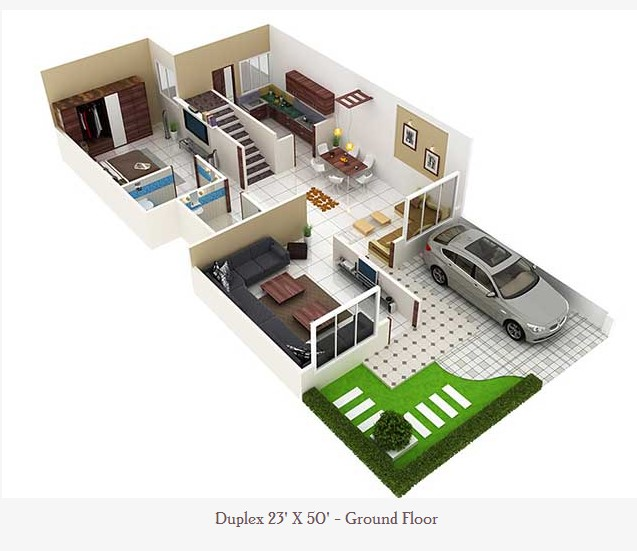 Garage Plans Blueprints 26 X 36 3 Car Traditional: 23 Feet By 50 Feet Home Plan Everyone Will Like