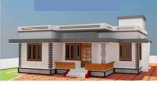 Low cost budget home design below 7 lakhs homes in for Low cost house plans with photos