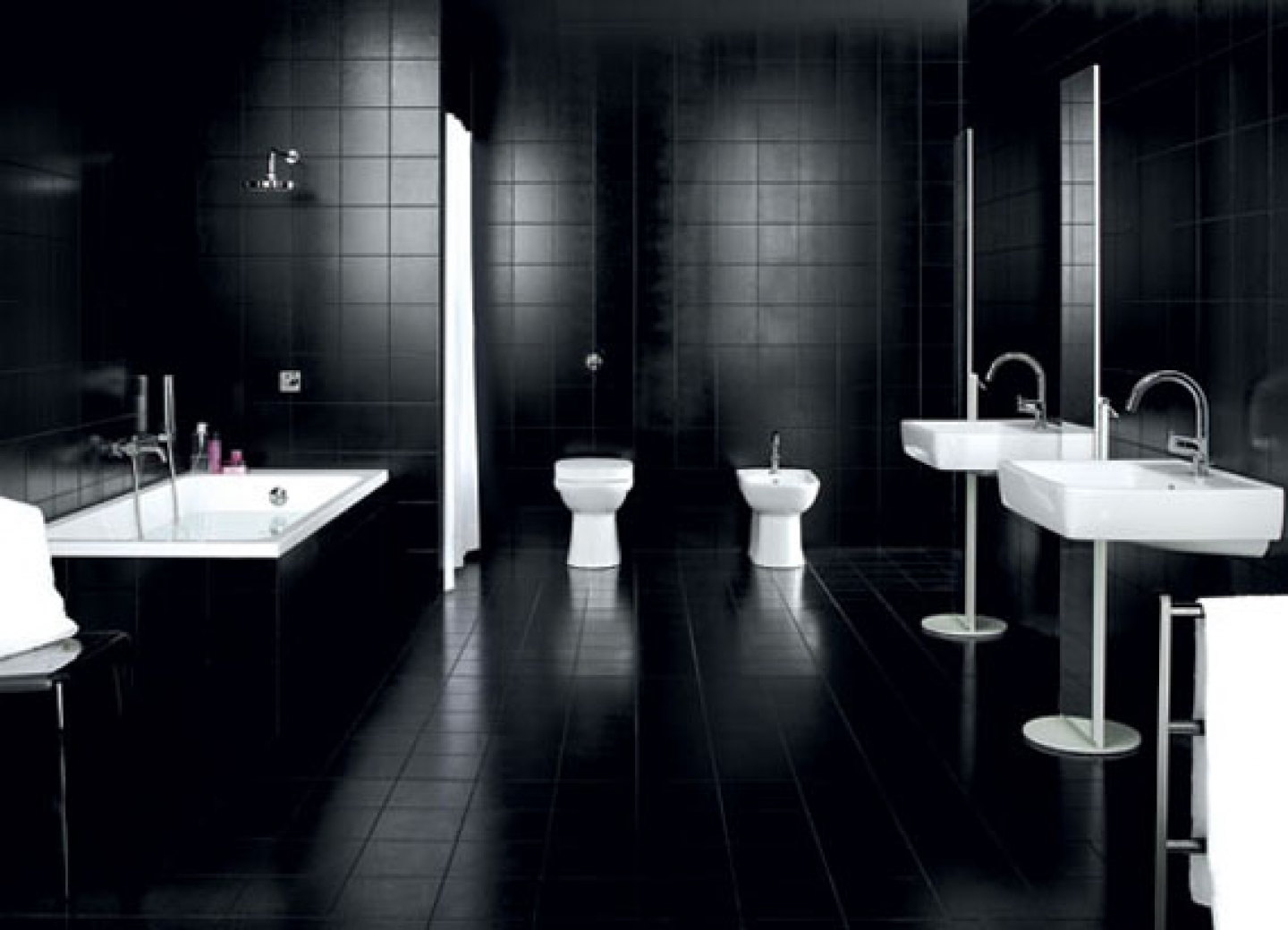 black and white color bathroom design ideas acha homes