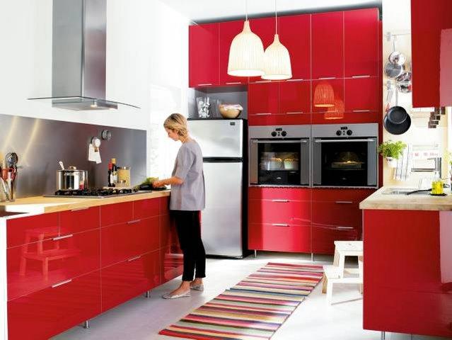 Czerwona Kuchnia Ikea Acha Homes