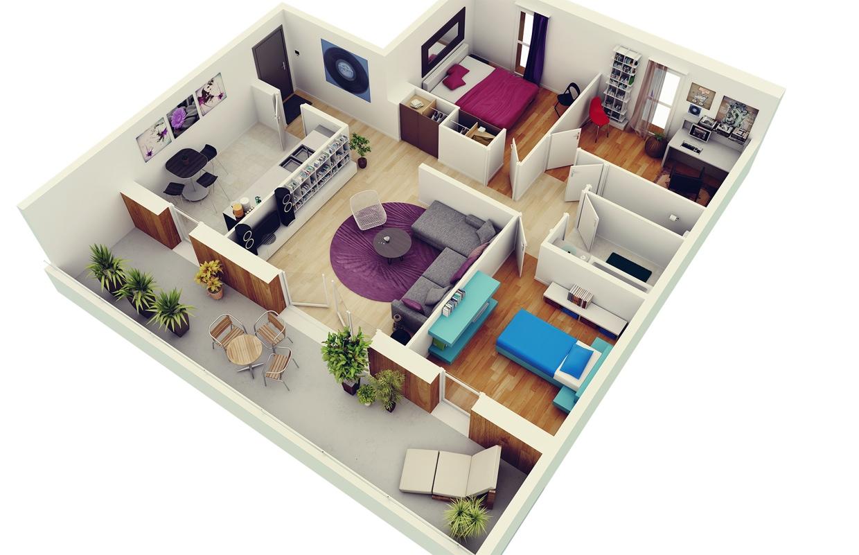 Three bedroom american model home plan acha homes