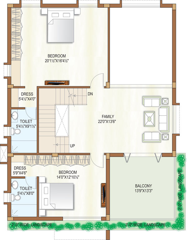 Wallpaper Designs For Living Room In India: 45 Feet By 45 Modern Home Plan
