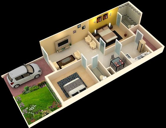 Stylish 3d Home Plan Everyone Will Like Acha Homes