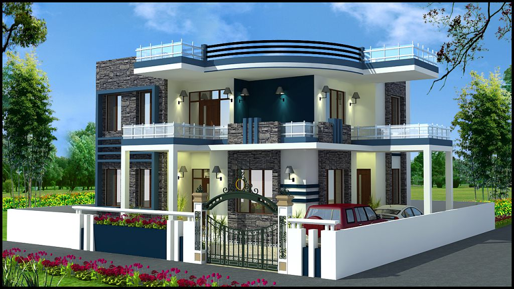 Beautiful duplex home plan everyone will like homes in for Very beautiful house