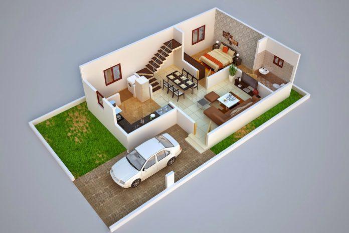 3D Duplex Home Plan Ideas Everyone Will Like | Acha Homes