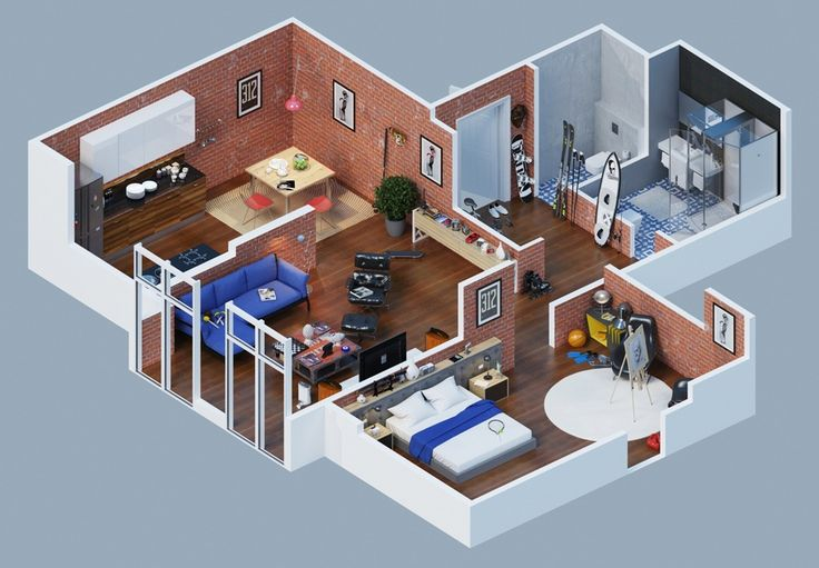 3D Floor Plans Design Ideas Everyone Will Like | Homes In Kerala