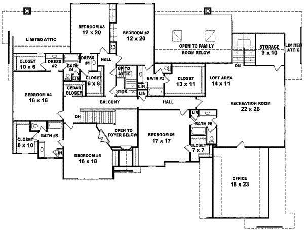 Six Bedroom Home Plan Acha Homes