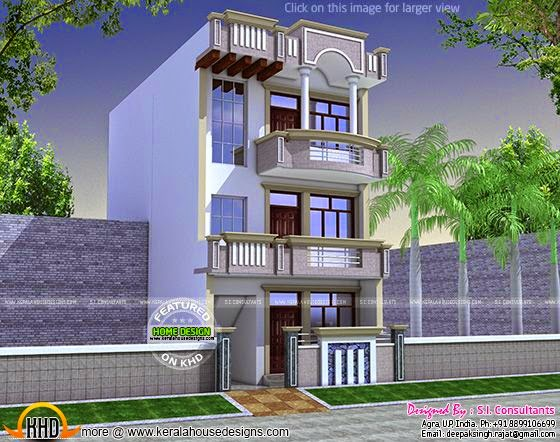 22 Feet By 60 Feet House Plan Homes In Kerala India