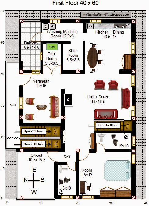 40 215 60 House Plans West Facing Acha Homes