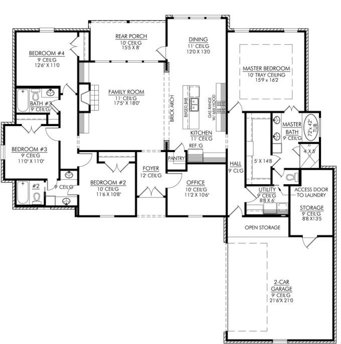 4 Bedroom House Designs. Four Bedroom House Plans 4 Designs