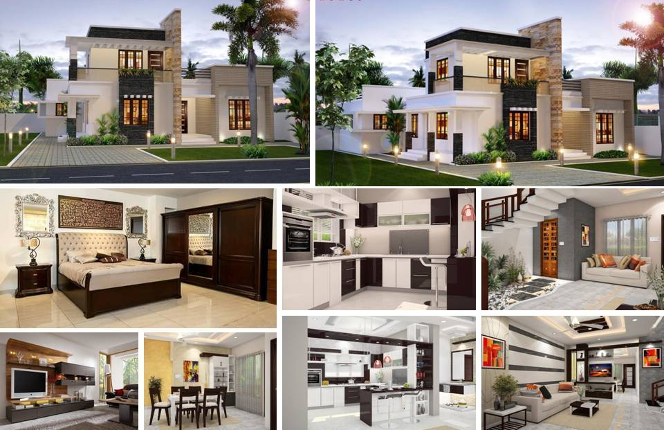 And modern luxury villa design plan with the help of the format given in the plan you can easily build your home in best way