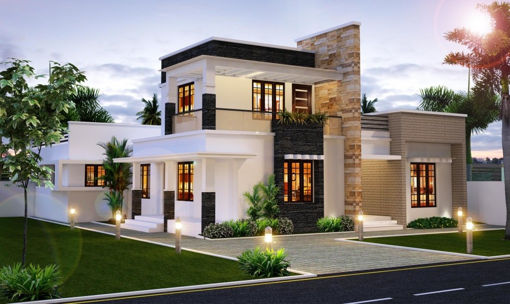 Modern and stylish luxury villa design everyone will like for Modern house villa design