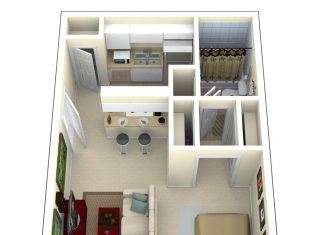 tiny house floor plans and 3d home plan under 300 square