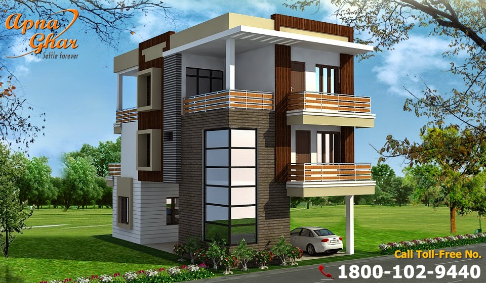 Modern and splendid triplex house designs everyone will for Triplex plans and designs