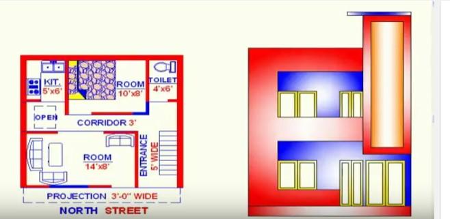 Vastu North Face House Map 20 Feet By 20 Acha Homes