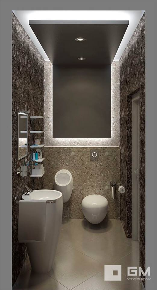 Simple bathroom designs for small spaces acha homes for Modern bathroom design ideas small spaces