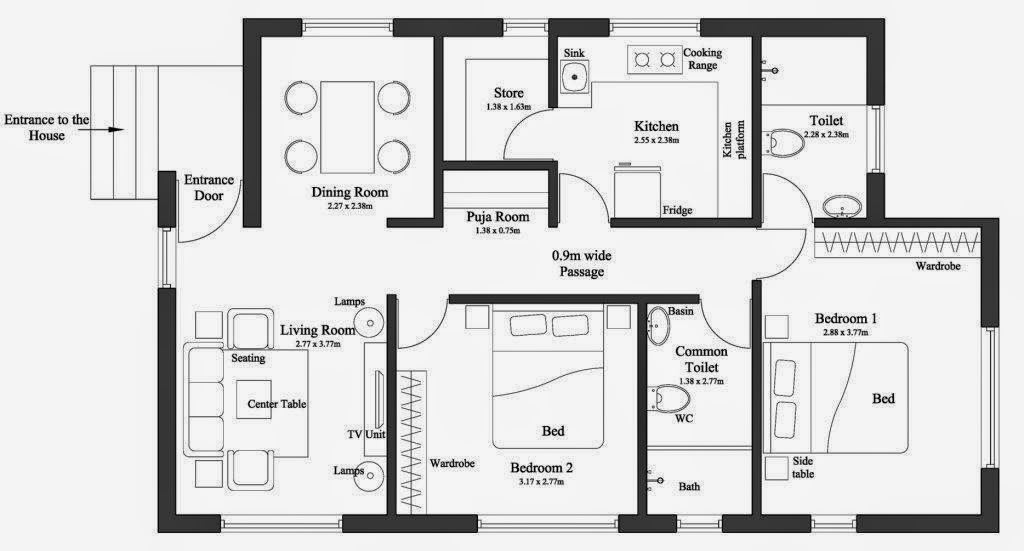 15 Feet By 60 House Plan Everyone Will Like