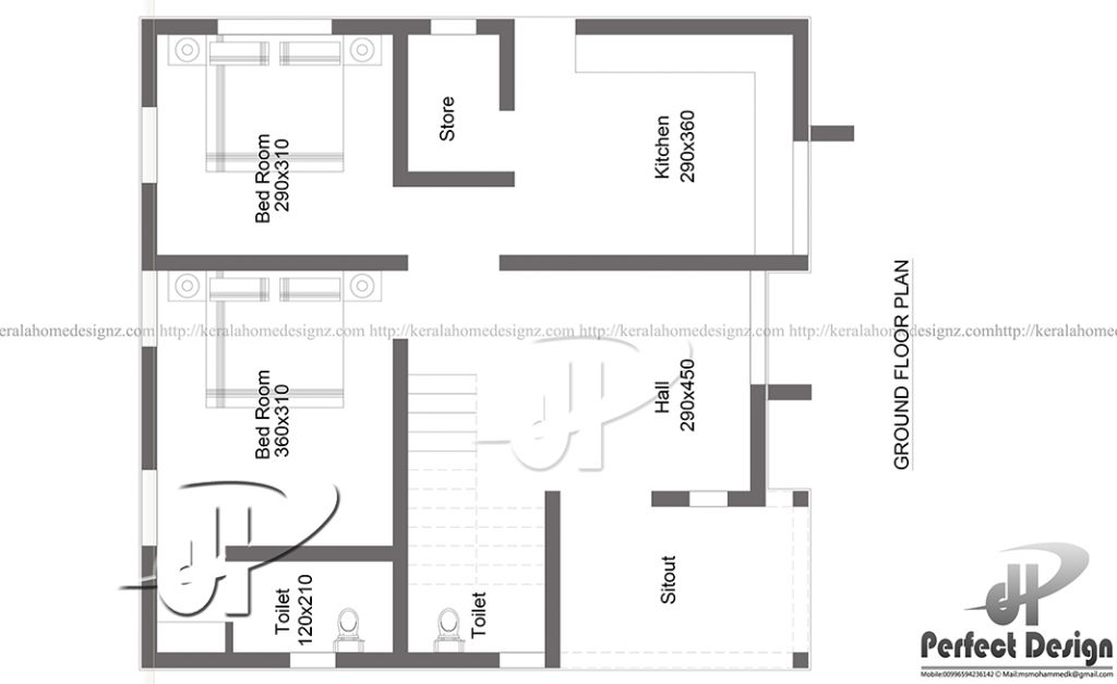 But, The Thing That Makes This Indian Style House Plan 700 Sq Ft Unique Is  Its Ultimate Architectural Floor Plan. The Architecture Of Whole House Is  ...