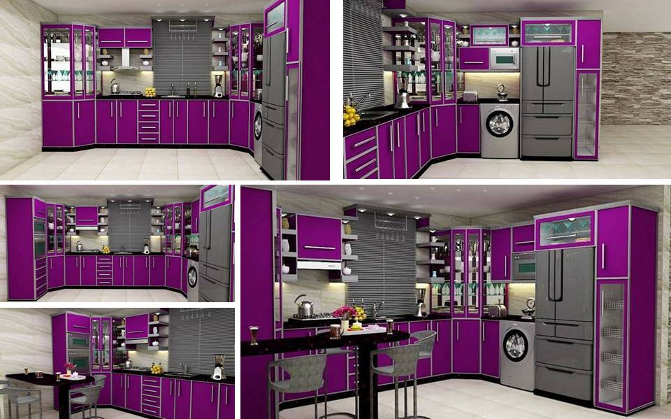 Elegant We Are Sharing Beautiful 5 Glossy Purple Kitchen Cabinets Plans That Can  Help You If You Are Looking Or Remodel Kitchen For Your House.