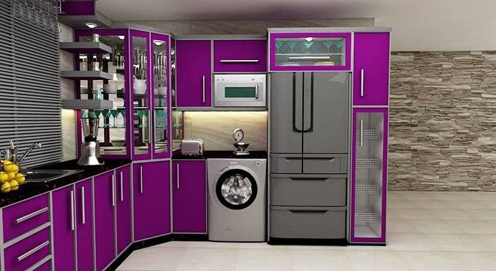 Donu0027t Get Confuse Any More Try Our 5 Glossy Purple Kitchen Cabinets. We  Make You Sure That If You Decorate Your Kitchen With Our Purple Theme You  Will Have ...
