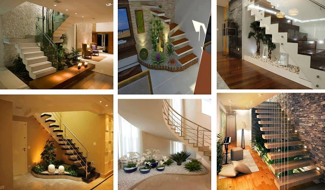 Stairs design for india house homes in kerala india for Interior staircase designs india