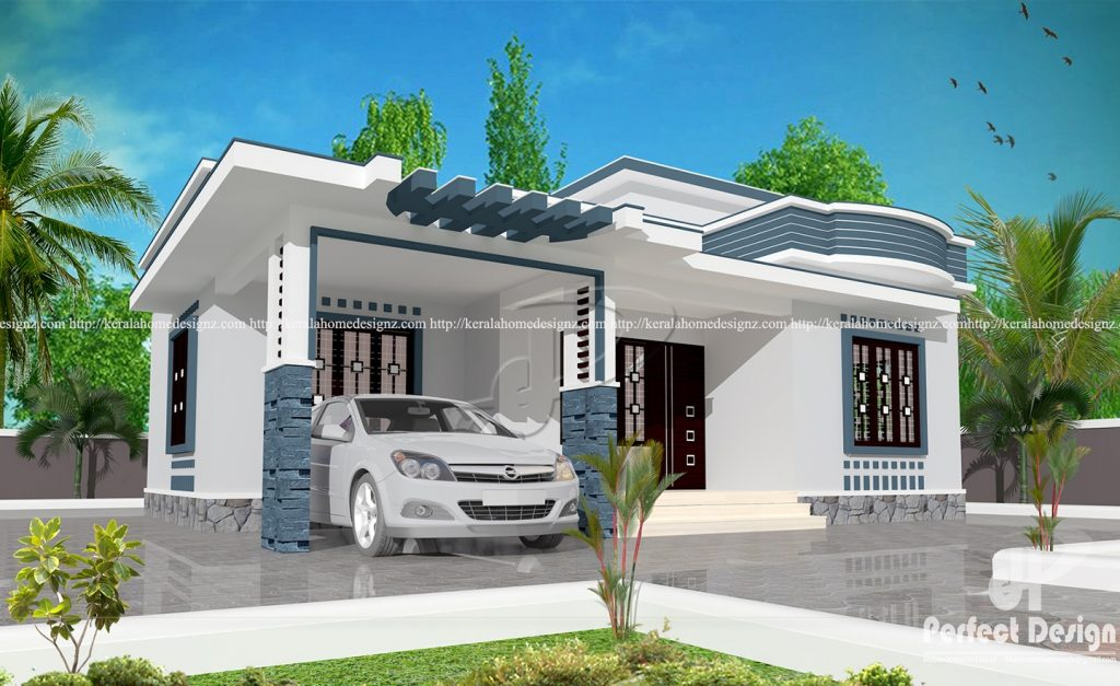 10 lakhs cost estimated modern home plan everyone will for Modern house cost