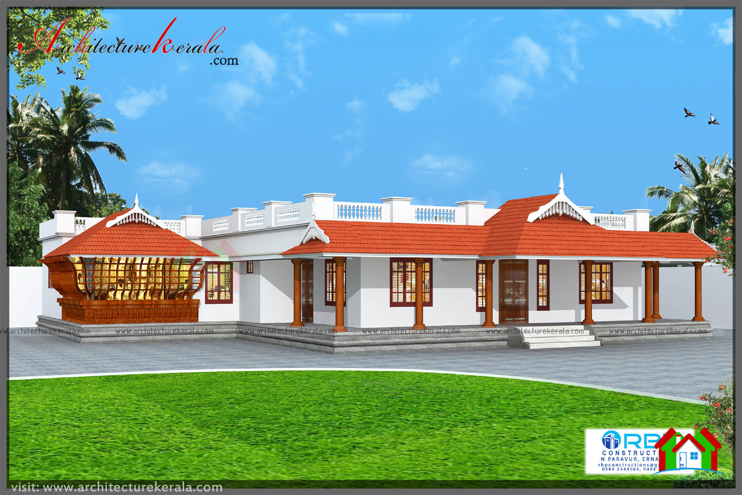 1700 Square Feet Traditional House Plan With Beautiful Elevation