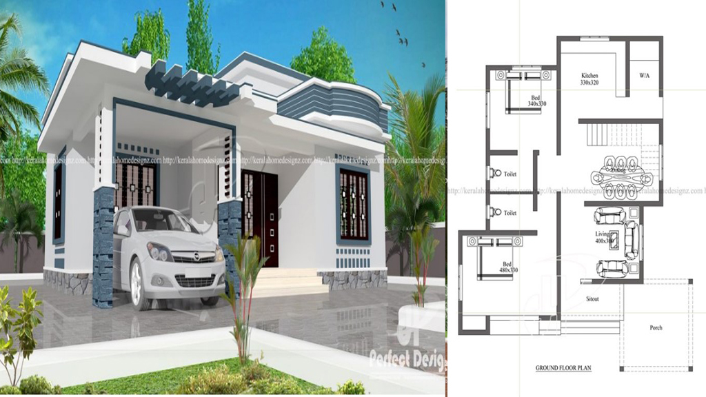 10 Lakhs Cost Estimated Modern Home Plan Everyone Will Like Acha