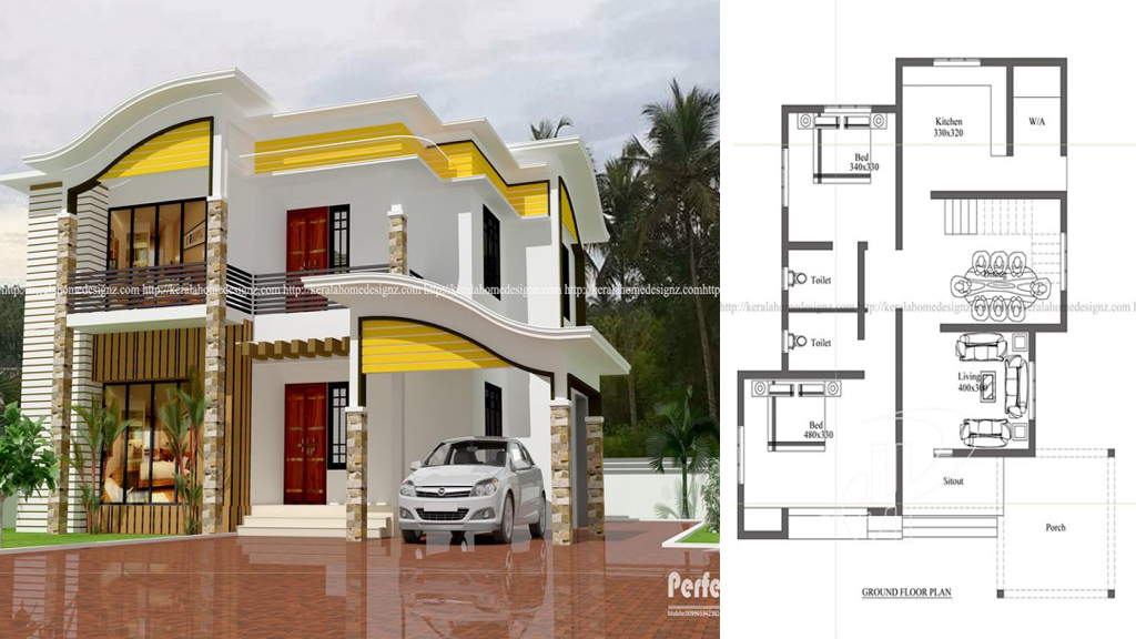 4 bedroom beautiful contemporary home plan everyone will for Copying house plans