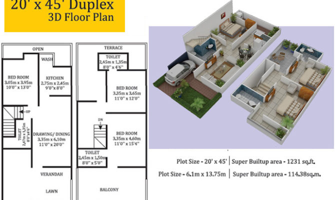 Simple Home Plan for Middle Class 20X45 Everyone Will Like