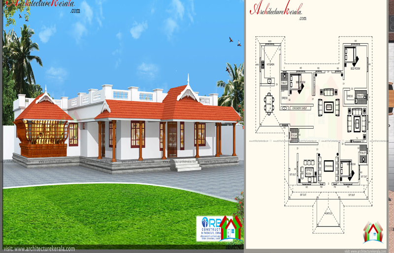 1700 Square Feet Traditional House Plan You Will Love It Acha Homes