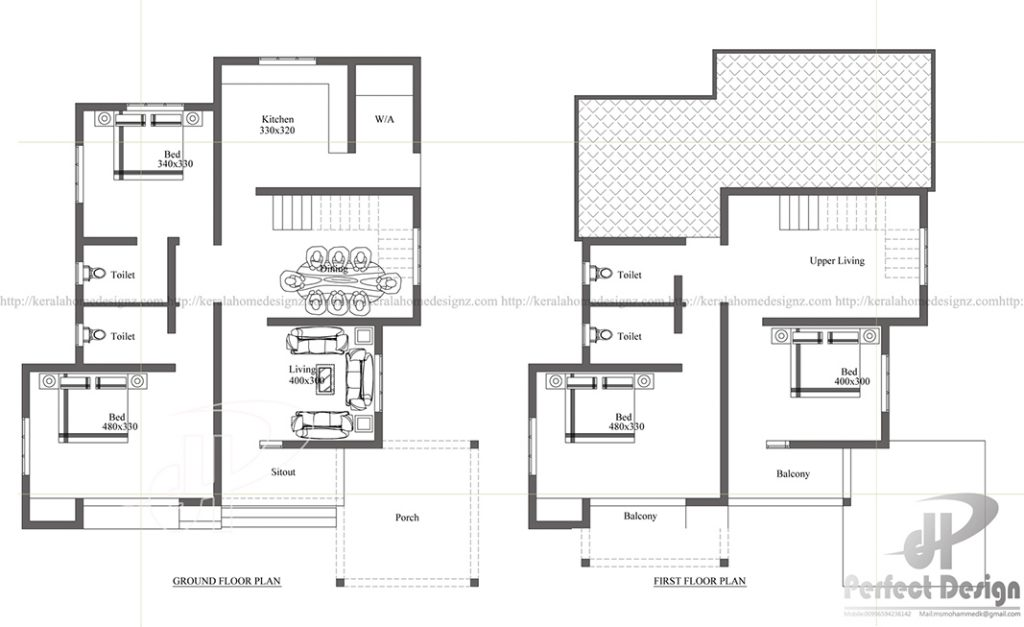 Image Credit:keralahomedesignz.com. TAGS; Affordable Home Plans · Contemporary  Homes Plans · Floor Plans ...
