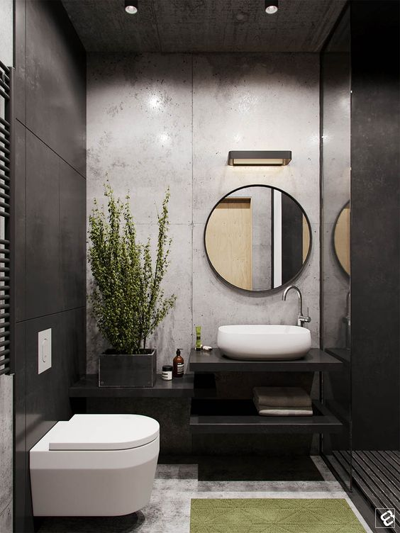 best modern small bathrooms and functional toilet design ideas homes in kerala india. Black Bedroom Furniture Sets. Home Design Ideas