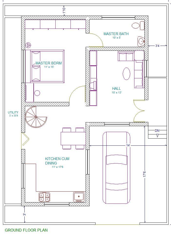 Free Duplex House Design: 30X40 East Facing Vastu Home Everyone Will Like