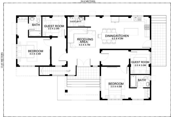 Four Bedroom One Storey House Design With Roof Deck India