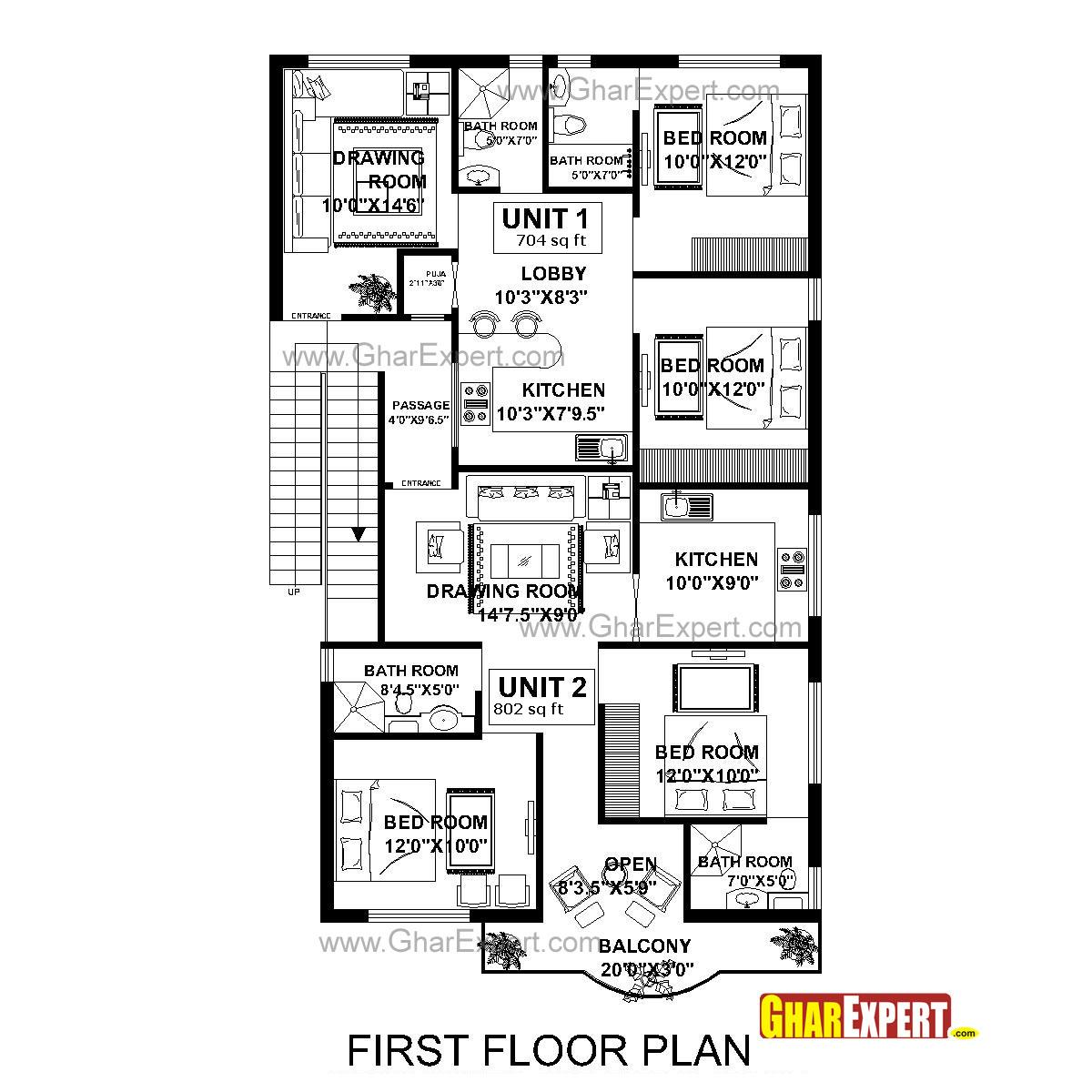 House Plan For 33 Feet By 40 Feet Plot Everyone Will Like: House Plan For 40 Feet By 60 Feet Plot With 7 Bedrooms