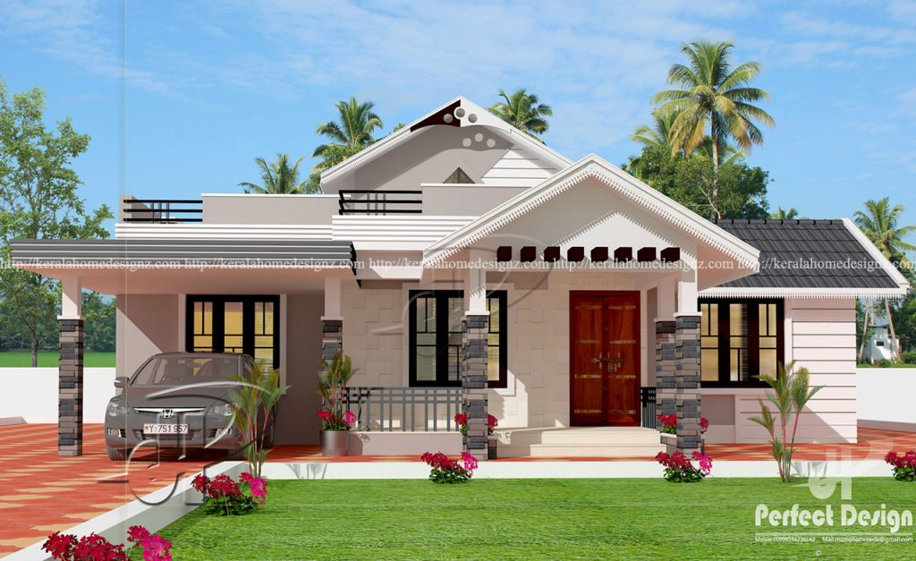 One storey house design with roof must see this homes in for One floor house design plans 3d