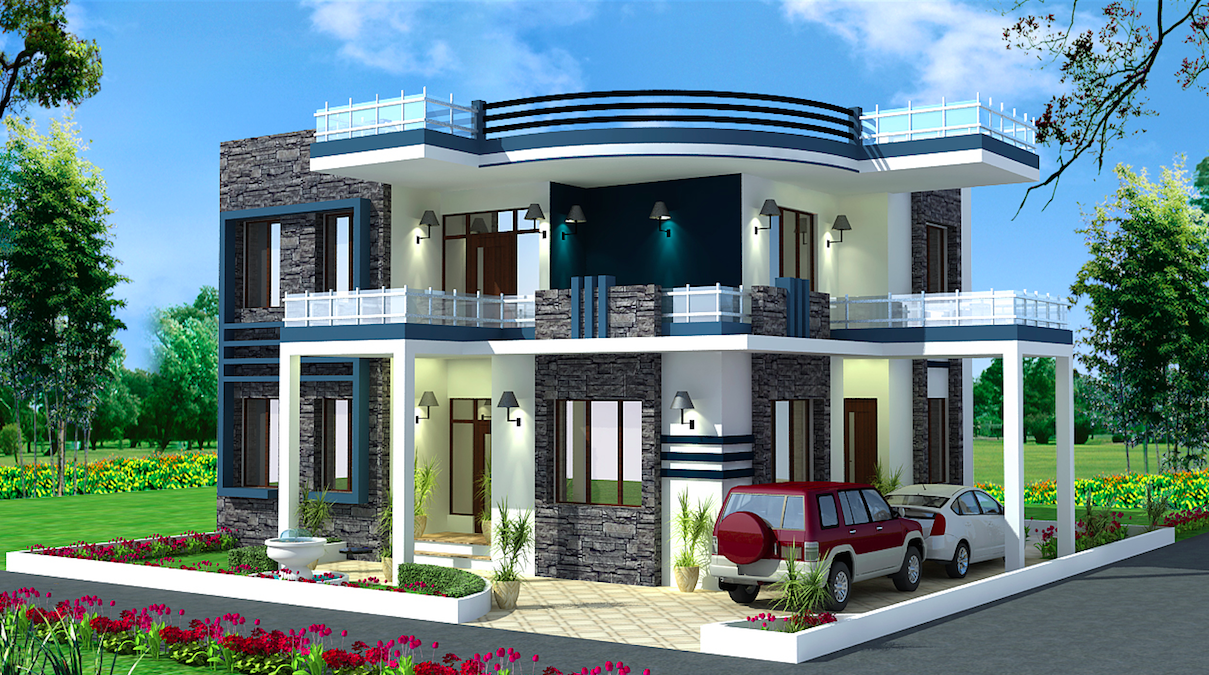 Spectacular modern residential villas plan everyone will for Best house plans of 2017