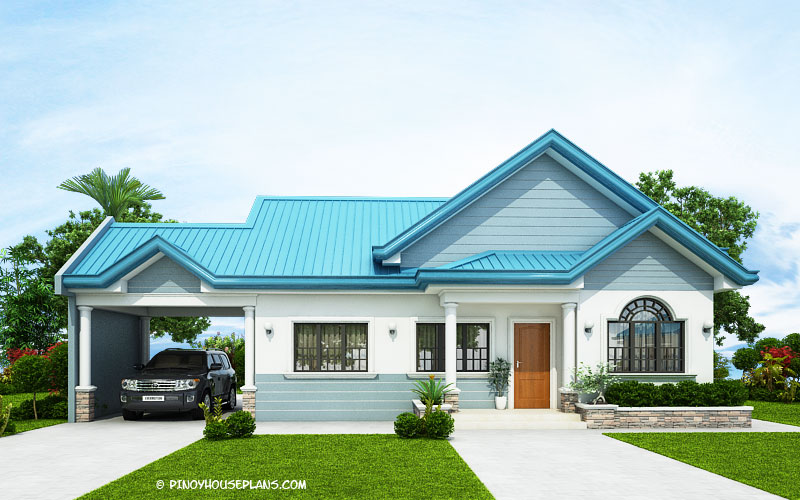 The Blue House Design With 3 Bedrooms Like 1 Acha Homes