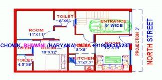 Vastu North Face 2 Map 24X34 Everyone Will Like · Admin · Single Floor  House Plan