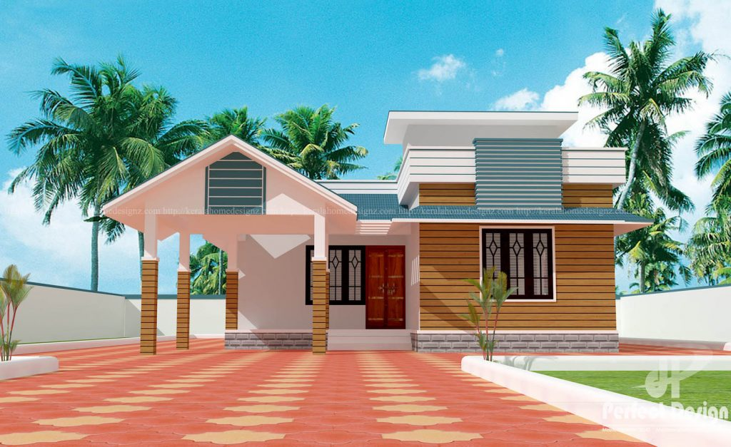 1075 Square Feet Beautiful Home Design With 2 Bedrooms ...