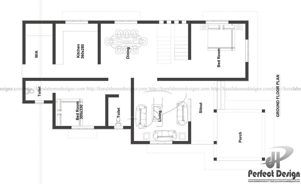 1075 square feet beautiful home design with 2 bedrooms   homes in