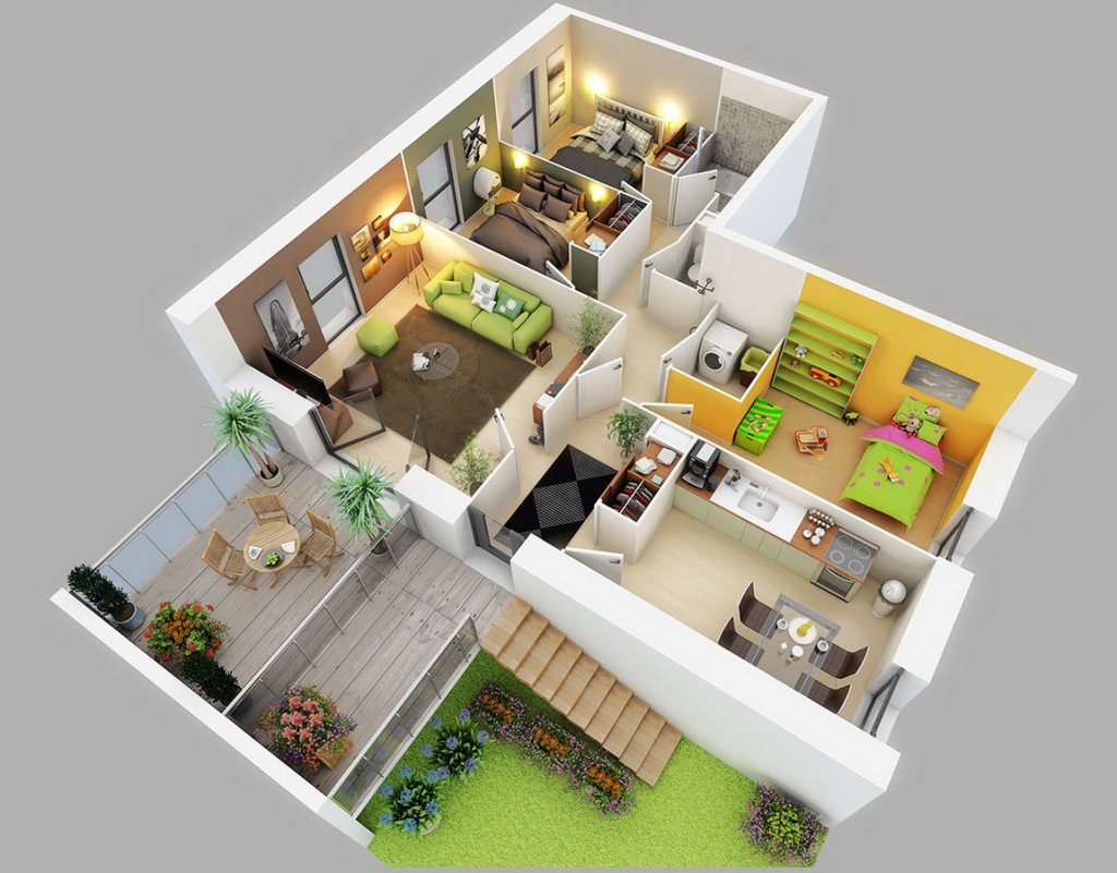 Three Bedroom House Is The Biggest House Plan That Is Suitable For Both Big  And Also Small Family. We Understand That When A Person Plans To Build Our  House ...
